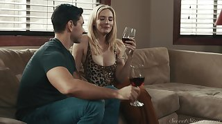 Hardcore fucking exposed to someone's skin sofa with cock loving MILF Mona Wales