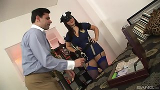 Fake female cop wants a piece be advisable for this man's permanent wood
