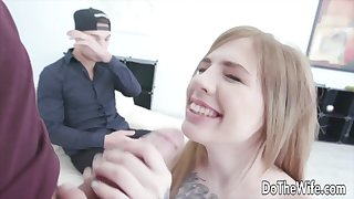 Showing Her Hubby What a Real Blowjob Looks Like Compilation