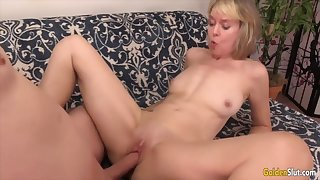Sexy old women perceive their meaty pussies property drilled with hard dicks
