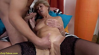 sexy 75 years ancient mom loves toyboy
