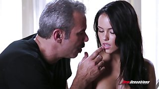 An old fart gets to fuck a cute young woman and that babe has a splendid ass