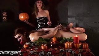 The Hardship - Two witches in fetish lesbian femdom with bondage