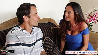 Wife's hot friend Ariella Ferrera throw a spanner into the works out to be a good bushwa sucker
