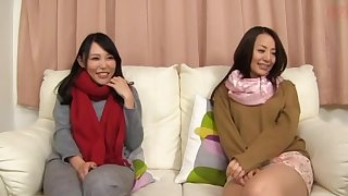 Amateur Japanese foursome with two stunning girls who love quickening kinky