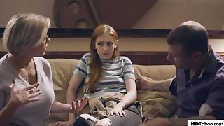 Taboo 4some with nasty milf and new family invalid decrepit