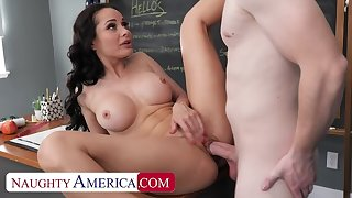 Inconsolable America: Hot Russian teacher, Crystal Rush, drains her student's balls on PornHD