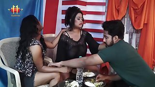 Indian Lesbian Threesome - fat ass moms share dick
