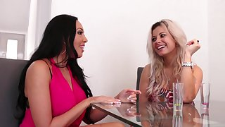 Pussy trample with lesbian couple - Rio Lee and Alana Luv