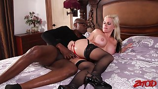 Adorable mart wife Alana Croft cheats on her hubby round a BBC
