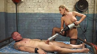 Cherie DeVille straps a dildo gag on him increased by uses his prospect to put someone down