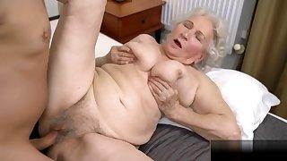 Horny granny Normas as thick as thieves twat got Robs big albatross