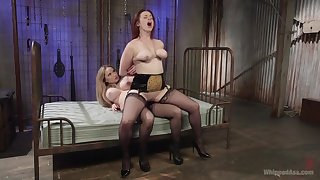 Excellent strap-on porn for one big ass lesbians