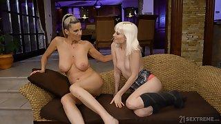 Adult slut Miss Melissa pleasures younger model Conchita